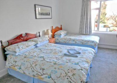 Lovely comfortable bed at glen house guest house
