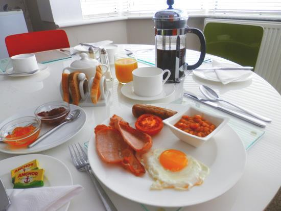 Picture of scrumptious full breakfast at glen guest house